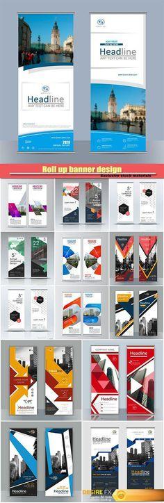 Roll up banner design, brochure flyer vertical template  http://www.desirefx.me/roll-up-banner-design-brochure-flyer-vertical-template/