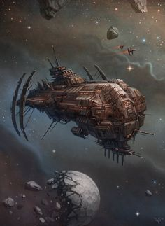 Here is another illustration done for the «Cosmic Empires» board game It's called «SPACE COMBAT» (obviously the Kickstarter campaign is live! more infos here: www.kickstar...
