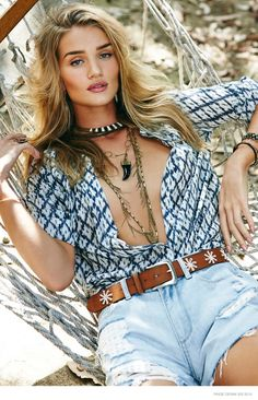 Rosie Huntington-Whiteley for Paige Denim's spring 2015 campaign