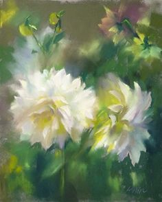 Floral Sun by Mary Aslin Pastel ~ 14 x 11