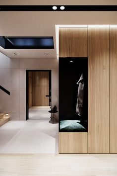 Two modern home interiors, with light luxurious decor and high-end modern furniture. Check out a classic car enthusiasts home decor, and a beautiful show home. Luxury Home Decor, Luxury Homes, Corridor Design, Home Entrance Decor, Modern Interior Design, Modern Interiors, Hallway Designs, Modern Hallway, Cuisines Design