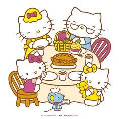 Hello Kitty et sa famille