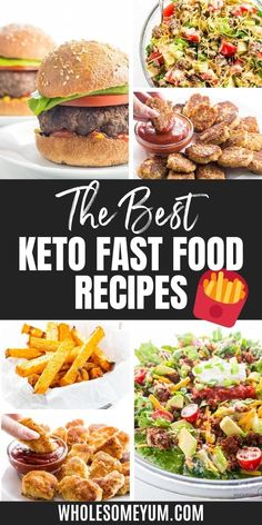 The most complete, best keto fast food guide ever! Includes all the best keto low carb fast food options at 30 restaurants, tips for ordering keto friendly fast food, what to get and what to avoid, and even keto fast food recipes. Best Keto Fast Food, Keto Friendly Fast Food, Keto Fast Food Options, Lunch Recipes, Low Carb Recipes, Real Food Recipes, Cooking Recipes, Healthy Recipes, Diabetic Recipes