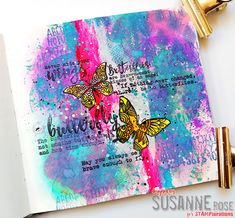 Susanne Rose Designs: Art Journal Page Video with Distress Oxides and STAMPlorations