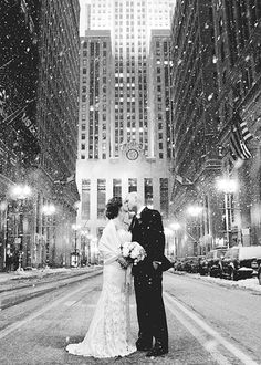 The Best Places to Capture Snowy Bridal Portraits in NYC : Brides
