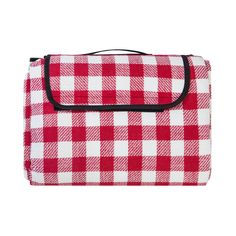 """Extra Large Picnic & Outdoor Blanket with Waterproof Backing 90"""" x 80"""" White&Red. Easy-to-Fold, Easy-to-Carry, folds down to size of a purse - folded measures 10 inches. Extra large size unfolded measures 90 in x 80 in & lightweight 1.3 pounds (weight of a loaf of bread). 100% soft polar fleece which won't irritate your skin and will provide hours of comfort. Waterproof cushioned backing prevents you from getting wet from damp lawns or surfaces and provides extra sitting comfort. Spot…"""