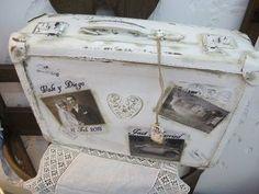 antigua valija de carton reciclada a nuevo. varios tamaños*