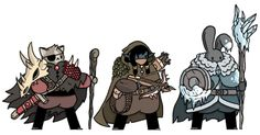 Another set of fantasy pals which i drew today and posted up on my twitter. From the left: a dragonslayer, a bounty hunter and an ice battle mage.
