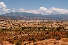 The #LaSalMountains in #ArchesNationalPark #Utah
