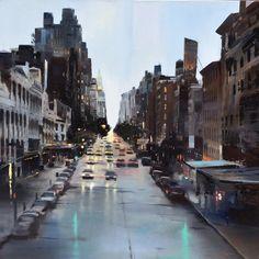 Painted Pedestrian Views of Dark, Urban Scenes by Cristóbal Pérez García  http://www.thisiscolossal.com/2015/02/painted-pedestrian-views-of-dark-urban-scenes-by-cristobal-perez-garcia/