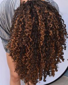 Ombre Curly Hair, Colored Curly Hair, Curly Hair Tips, Curly Hair Styles, Natural Hair Styles, Hair Dye, Blonde Highlights Curly Hair, Natural Hair Highlights, Curls