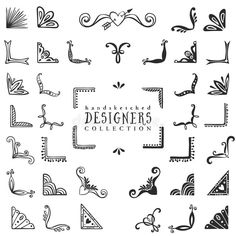 Download Vintage Decorative Corners Collection. Hand Drawn Vector Design Stock Vector - Image: 50326164