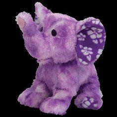 TY Beanie Baby - COASTLINE the Purple Elephant: Toys & Games