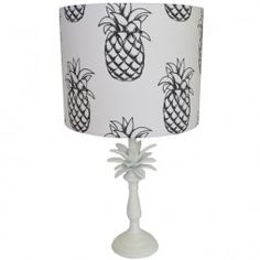 White Pineapple Lamp and Megan Lampshade    AdornHomewares.com.au