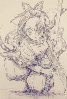 Las imágenes y fanarts de los personajes del anime Kimetsu no Yaiba Anime Character Drawing, Manga Drawing, Manga Art, Character Art, Anime Art, Character Design, Sketch Drawing, Drawing Poses, Anime Chibi
