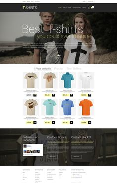 PrestaShop Template , T-Shirts