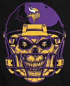 Minnesota Vikings NFL Helmet Skull Car Bumper Sticker Decal - 3 or 5 Minnesota Vikings Wallpaper, Minnesota Vikings Football, Best Football Team, Football Art, Football Helmets, Viking Wallpaper, Nfl Flag, Aztec Culture, Custom Flags