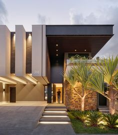 Modern Exterior House Designs, Modern House Facades, Modern Villa Design, Dream House Exterior, Modern Architecture House, Exterior Design, Architecture Design, Chinese Architecture, Futuristic Architecture