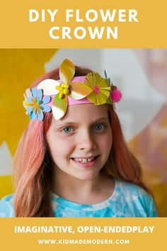 Nothing helps celebrate the arrival of spring and the Easter holiday like a beautiful bunch of colorful flowers. #eastercrafts #diyart #diyflowercrown #fairydiy Camping Crafts For Kids, Summer Camp Crafts, Kids Fall Crafts, Rainy Day Crafts, Craft Projects For Kids, Spring Crafts, Toddler Crafts, Craft Ideas, Diy Flower Crown
