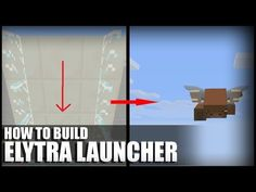 How to Make an Elytra Launcher in Minecraft - YouTube