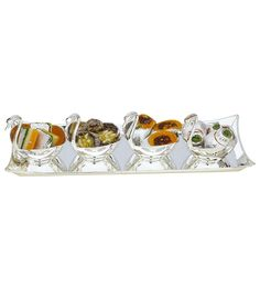 Tray with 4 Swans,Decorative Fruit Bowl,Modern Bowls,Serving Bowls | The Divine Luxury