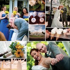 Blue and yellow wedding at @Shadowbrook-NewJersey Event-venue