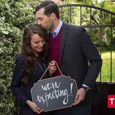 Jeremy & I excited to announce that we're expecting! #BabyVuolo