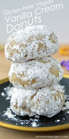 A Lovely Side Project | Gluten-Free Vegan Vanilla Cream Donuts | http://alovelysideproject.com