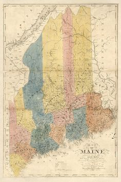 47 Best Maine Vintage Map images