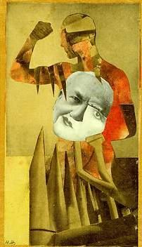 Hannah Hoch — The Strong Guys, 1931    Commentary on Dada's hypocritical support of feminism while expressing reluctance to include women in their movement.