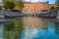 "This attractive park located in Dublin city centre was designed by Dáithí Hanly and dedicated to the memory of all who gave their lives in the cause of Irish Freedom.     The large sculpture by Oisín Kelly is based on the theme of the ""Children of Lir""."