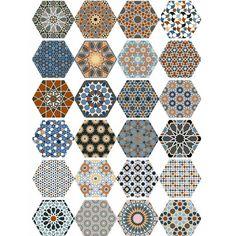 Moroccan Mix | Hexagon Tiles | Porcelain Superstore