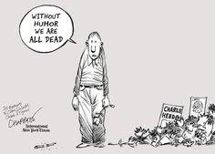 Chappatte cartoon for international edition of #NewYorkTimes #JeSuisCharlie