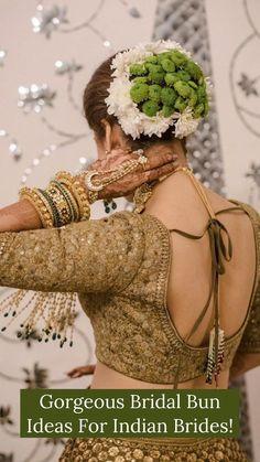 Indian Wedding Hairstyles, Bride Hairstyles, Elegant Bun, Bridal Hair Buns, Hair Brooch, Indian Bridal Makeup, Playing With Hair, Bridal Hair Accessories, Bridal Looks