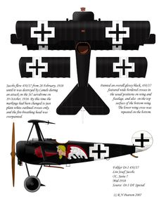 Fokker Dr.I 450/17    Jasta 7, Mid-1918    Josef Jacobs (the only German ace to survive flying the  triplane)
