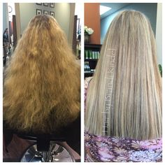 """Spent Saturday morning at the salon with my friend Kelsey  I did a Balayage retouch using Redken Freehand & 30V w/Olaplex. Surface painted panels in a herringbone pattern through the Mohawk section and diagonal back on sides.  Also cut off about 5"""" total  doesn't even look like the same head of hair!"""
