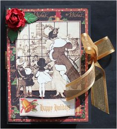 Kottens corner: Tea light card  Graphic 45 Christmas Emporium