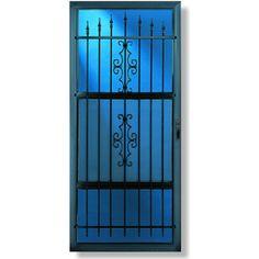 Comfort-Bilt Manchester Black Full-View Tempered Glass Standard Half Screen Storm Door (Common: 36-in x 81-in; Actual: 35.875-in x 80.25-in)