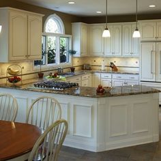 White #Kitchen Cabinets | White #kitchen cabinets may easily reveal dirt, cooking oil or ...
