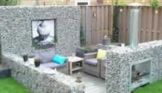 Gabion outdoor 'room'