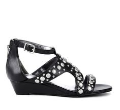 cute and comfy black shoes with a tiny heel and sparkles!