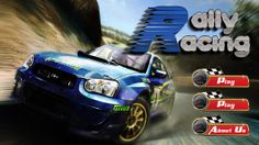 Rally Racing game: main menu
