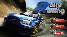 Rally Racing game: main menu