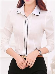 Stylish recommendations for women. Look and feel outstanding in the popular cheap clothing. Casual Work Outfits, Professional Outfits, Office Outfits, Cute Blouses, Blouses For Women, Ladies Shirts Formal, Blouse Vintage, Business Attire, Fashion Tips For Women
