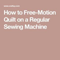 How to Free-Motion Quilt Swirl Designs - WeAllSew Quilting Board, Quilting Tips, Free Motion Quilting, Quilting Tutorials, Quilting Designs, Sewing Basics, Sewing Hacks, Sewing Tips, Machine Quilting Patterns
