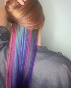Underlights - Peek-a-boo Color #underlights #purplehair #pravana @casey_brooke__