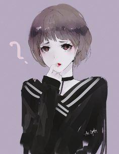 Love me?, Aoi Ogata on ArtStation at https://www.artstation.com/artwork/vRb1v