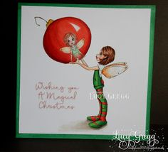 Loopylass Craft Creations: Christmas Fairy from Saturated Canary