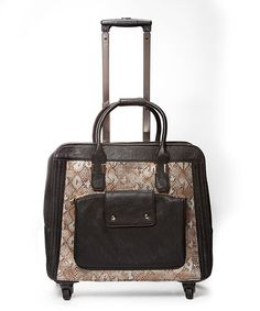 Hang Teal Crocodile Trolley Bag w/360 Degree Wheels | Rolling ...