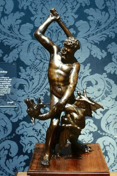 Hercules and the Dragon Ladon, from the workshop of Giambologna, early 17th century